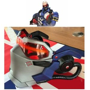 US!! Overwatch OW Soldier76 Helmet Cosplay Props ABS LED Light Mask
