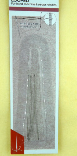Birch Needle Threader Looped x 6 Pack Beading tool Hand Machine or Overlocker