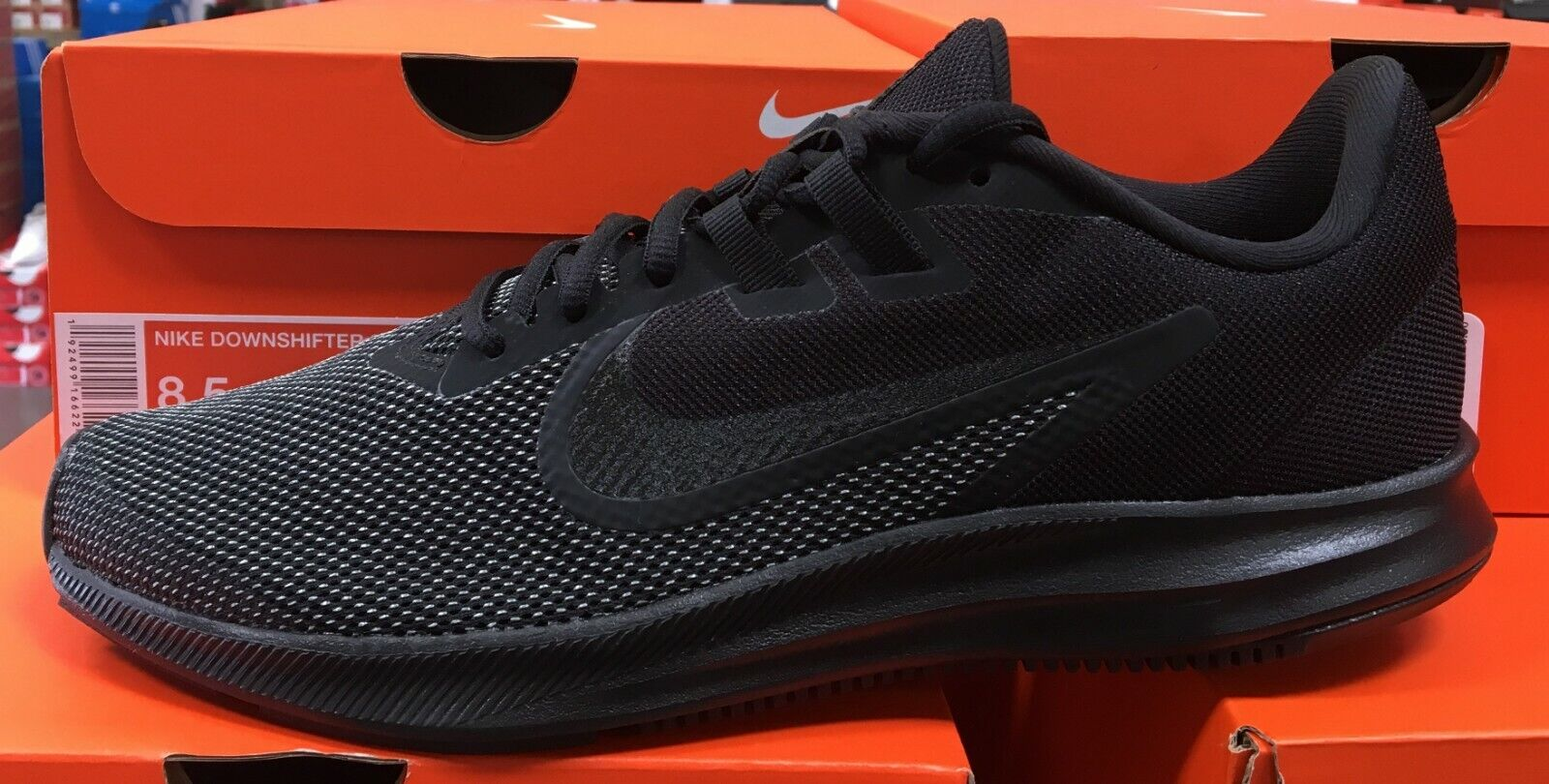 NIKE Downshifter 9 Homme Running Training Baskets Noir Anthracite AQ7481 005 K