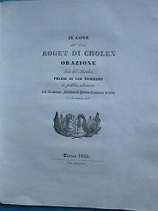 ELOGE-DU-COMTE-DE-CHOLEX-ministre-du-roi-de-Sardaigne-Turin-1835