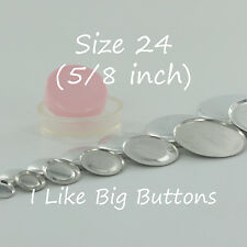 """100 FLAT BACK Size 24 (5/8""""/15mm) Cover/Covered Buttons Fabric SELF COVER BUTTON"""
