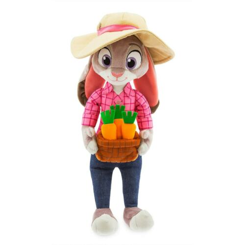 """Disney Store Zootopia Judy Hopps Plush 16/"""" H Toy Doll Officer Bunny NWT Easter"""