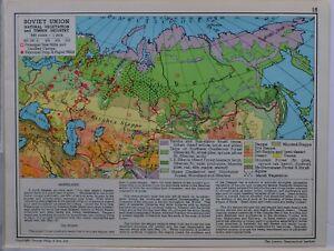 1961-SOVIET-MAP-SOVIET-UNION-NATURAL-VEGETATION-TIMBER-INDUSTRY-LUMBER-CAMPS
