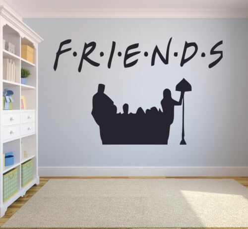 FRIENDS Logo Characters TV Show Wall Sticker Home Room Vinyl Art Decal Decor