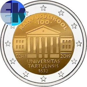 Ek // 2 euro Estonie 2020 Traité de Tartu : Nouveau