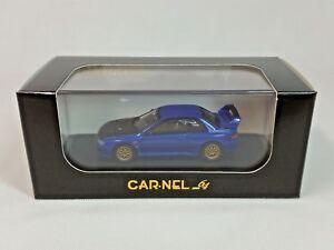 1:64 Kyosho CAR.NEL Subaru Impreza 22B STi 1998 WRX Blue//Carbon Bonnet 999 pcs