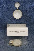 Avon Glitter Drop Earring -pierced - Clear