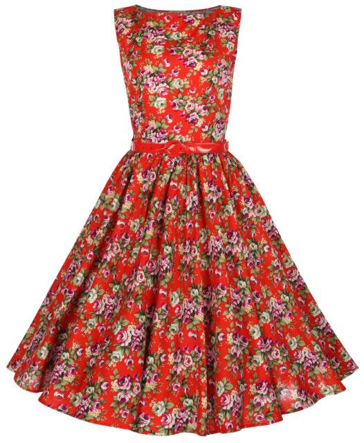 NEW LINDY BOP CLASSY AUDREY VINTAGE 1950's ROCKABILLY PINUP SWING DRESS HEPBURN