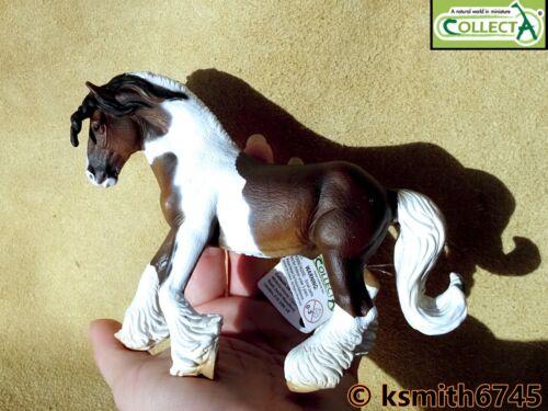 CollectA Pie Tinker Stallion solide Jouet en plastique Ferme Pet Animal Cheval nouveau