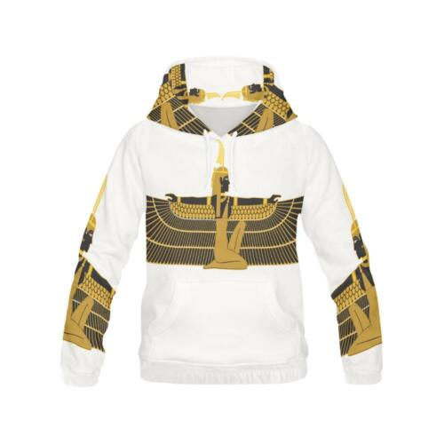 New Ma/'at Hoodie Egyptian Goddess African Deity Pullover Longsleeve