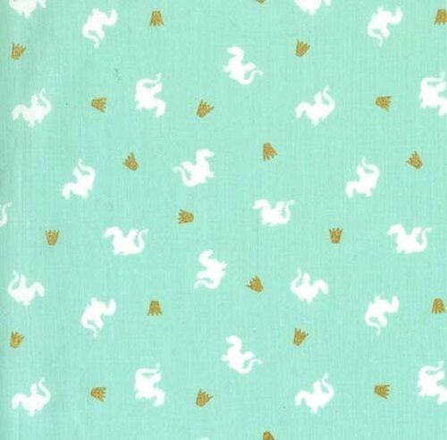 Fat Quarter Baby Dragon Turquoise Cotton Quilting Sewing Fabric