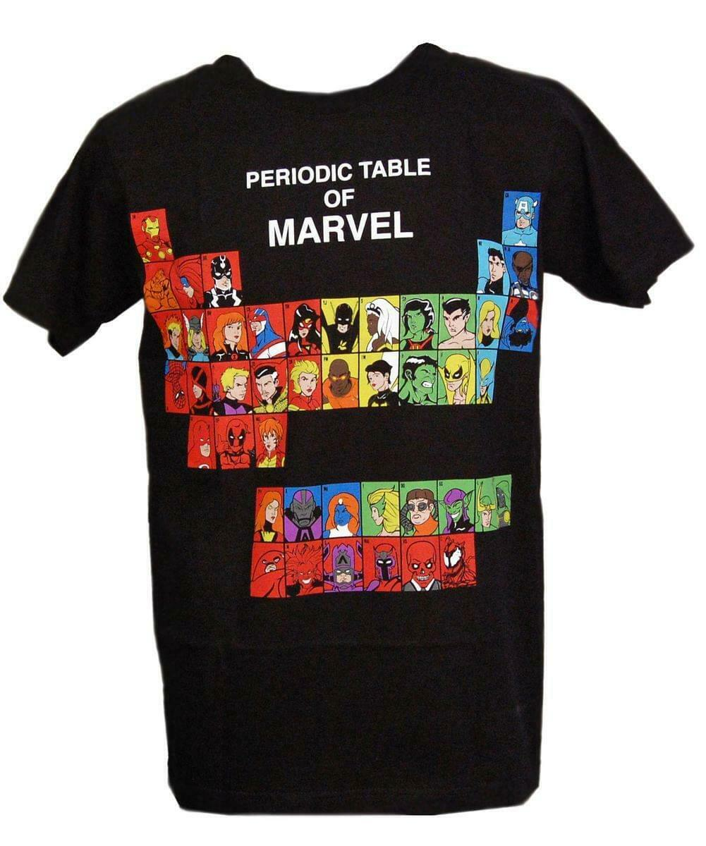 Periodic Table Of Marvel T-Shirt Adult