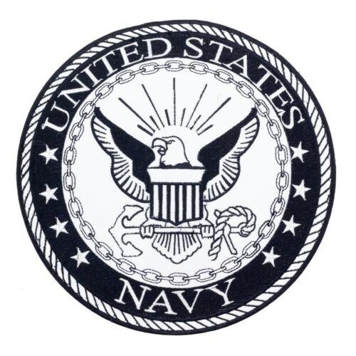 US Navy Large Back Patch Black /& White for Vest Jacket 10 inch