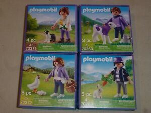 Lot-de-4-PLAYMOBIL-MILKA-2020-reference-70263-70289-70371-70372