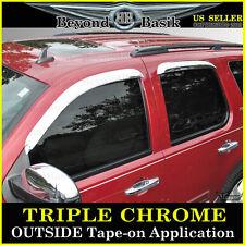 2007-2014 Chevy Tahoe GMC Yukon Chrome 4PC Door Vent Visors Rain Guards