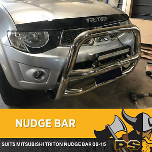 Stainless-Steel-Nudge-Bar-Grille-Guard-For-Mitsubishi-Triton-2006-2015