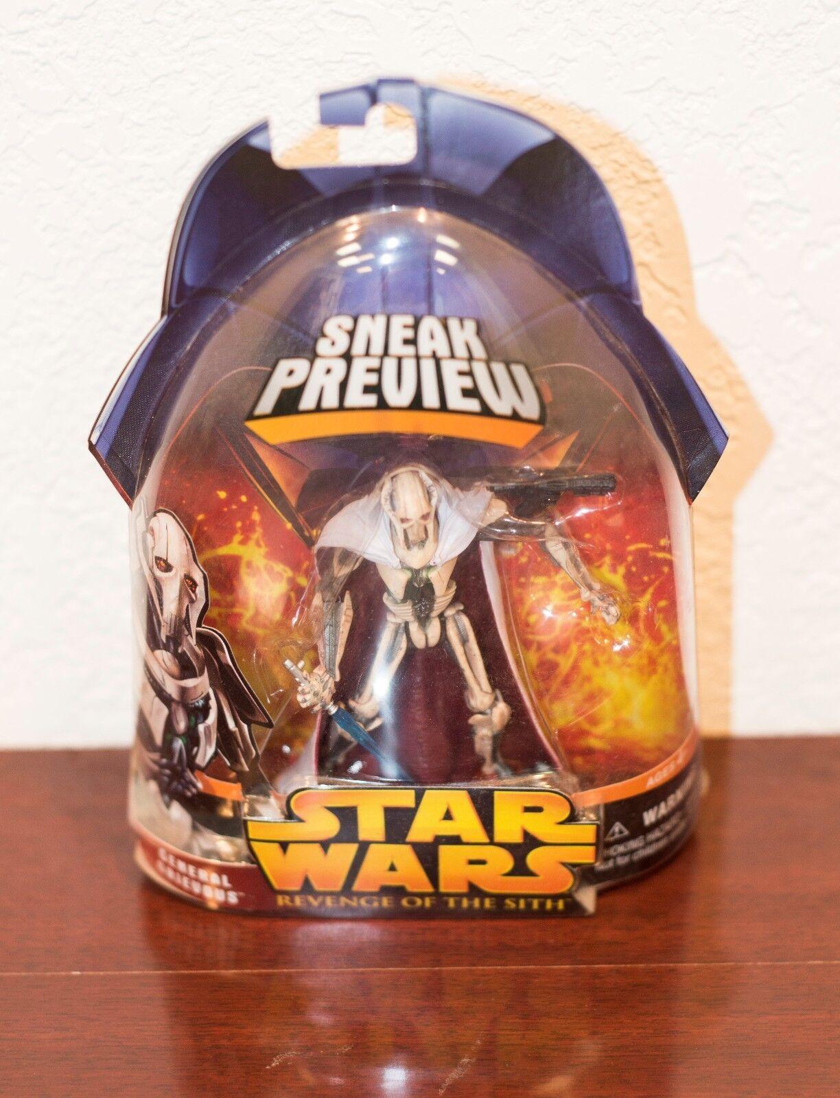 2005 STAR WARS SNEAK PREVIEW REVENGE OF THE SITH GENERAL GRIEVOUS FIGURE MOC