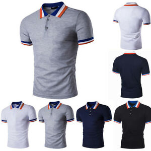 Details zu Herren Poloshirt Kurzarm T shirt Slim Fit Polohemd Freizeit Shirt Tops Hemd Tee