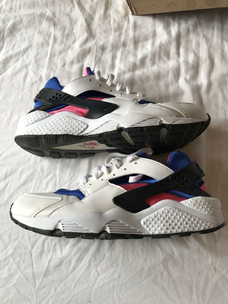 Nike Air Huarache Baskets homme, pointure 9, bleu royal rose 318429-146  RARE -
