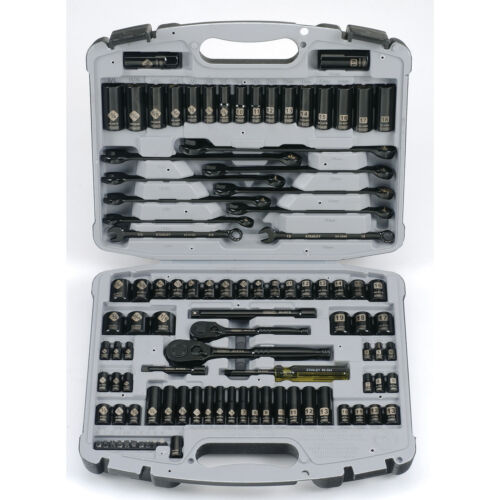 Stanley 92-839 Max-Drive Black Chrome and Laser Etched Socket Set, 99-Piece