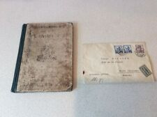 Antique CZECHHOSLOVAKIA?  BOOK  & OLD LETTER WITH CZECHHOSLOVAKIA STAMPS