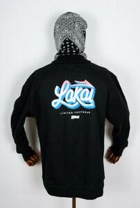 Lakai Footwear Hooded Sweatshirt Crewneck Crew Sweater Sign Pullover Black in M