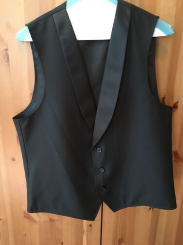 Men/'s Formal Black Vest Size Small
