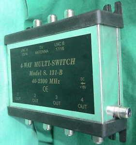 4-WAY-MULTISWITCH-S-131-B-ASTRO-Weiche-ADX-32-Ableit-TELEKA-SNG-Steckernetzteil