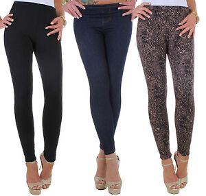Mujer-Termo-Elastico-Leggings-pantalones-vaqueros-Aspecto-FORRADO-TALLA-ESPECIAL
