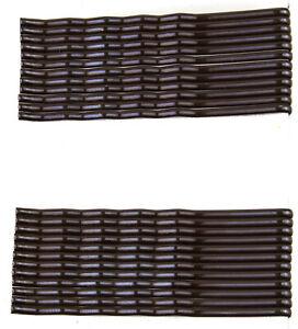 24x marrone Capelli lunghi Grip Kirby Ondulato MOLLETTE MOLLETTA PER CAPELLI DIAPOSITIVA (Venditore Regno Unito)