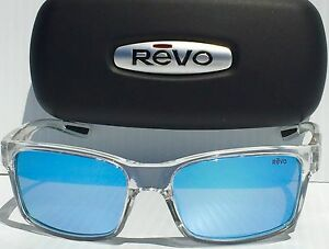 29facaf29f NEW  REVO CRAWLER CLEAR w Blue POLARIZED Lens Sunglass RE 1027 09 BL ...