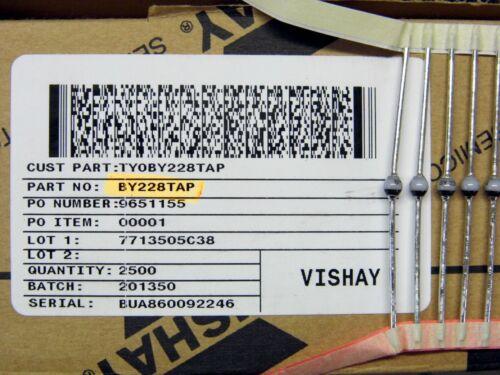 ~ Vishay BY228TAP ~ 1500v 3A E31 Lote x5: Diodo By 228 ~ BY228 SOD-64