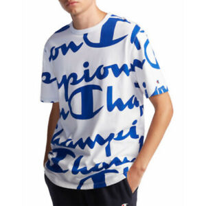 Champion Life Logo Tee Mens Assorted Logo Style 100% Cotton