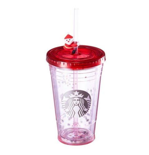Starbucks Korea 2017 Christmas Limited Santa straw figure coldcup tumbler 473ml