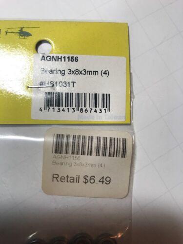 Align RC Parts Bearings ID X OD X W = 3 X 8 X 3 mm 4 HS1031T AGNH1156