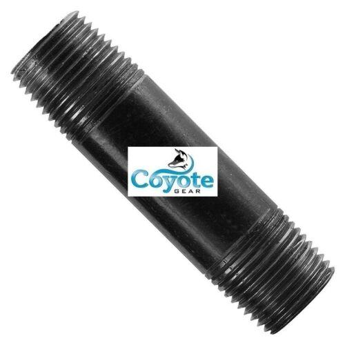 """1//4/"""" NPT x 10/"""" Long Black Steel Sch//40 Threaded Pipe Nipple Coyote Gear"""