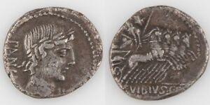 90-BC-Roman-Republic-AR-Denarius-Vibius-Pansa-Apollo-Minerva-Quadriga-S-242