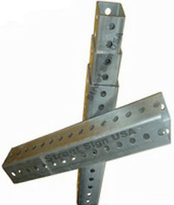 Image Is Loading 8FT GALVANIZED 2 034 SQUARE SIGN POST HEAVY