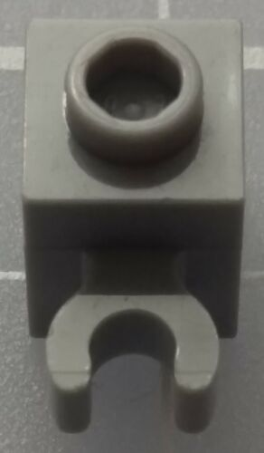 open O clip Hollow Stud x4 LEGO 30241b Brick Modified 1x1 with Clip Vertical