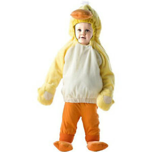 Image is loading New-Yellow-Duck-Jumper-Toddler-Costume-Halloween-Orange-  sc 1 st  eBay & New Yellow Duck Jumper Toddler Costume Halloween Orange and White ...