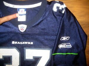 90960cc1e42 Image is loading Reebok-SEATTLE-SEAHAWKS-Shaun-Alexander-Youth -LARGE-Football-