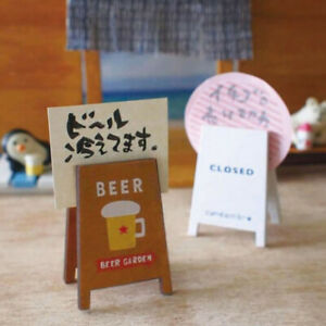 Office Vintage Wooden Memo Card Holder Paper Clips Message Decor Photo G