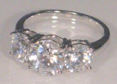3.00 Ct Round Diamond Anniversary Engagement Ring White Gold Platinum finish