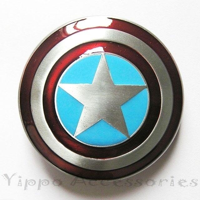 Captain America Shield Marvel Avengers Superhero Metal Belt Buckle