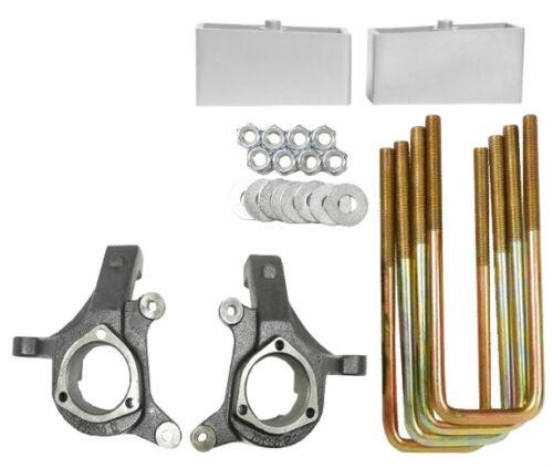 "Silverado Lift Kit 3/""//2/"" 2007-2014 2wd Suspension Spindles Aluminum Blocks"
