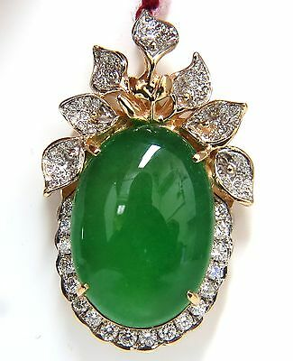diamond collection s ebay with floral stone on deco jade catswhisker green natural pendant cln diamonds