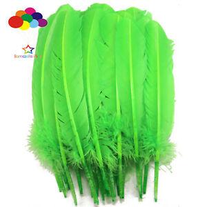 10-100pcs-Fruit-Vert-10-12-in-Turquie-plume-plumes-pour-fashion-Decorations