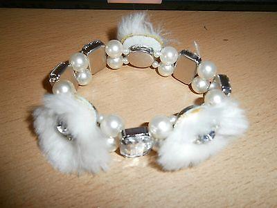 1 Dehnbares Armband - Silberfarben/weiß - Neu/ungetragen-modeschmuck Um Das KöRpergewicht Zu Reduzieren Und Das Leben Zu VerläNgern