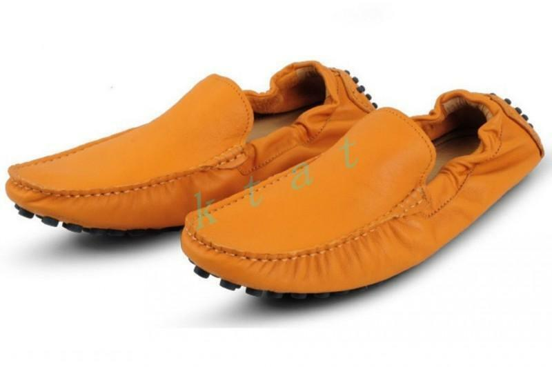 Mens Fashion  Driving Leather Loafers Casual shoes Moccasin US Size shoes FlatS