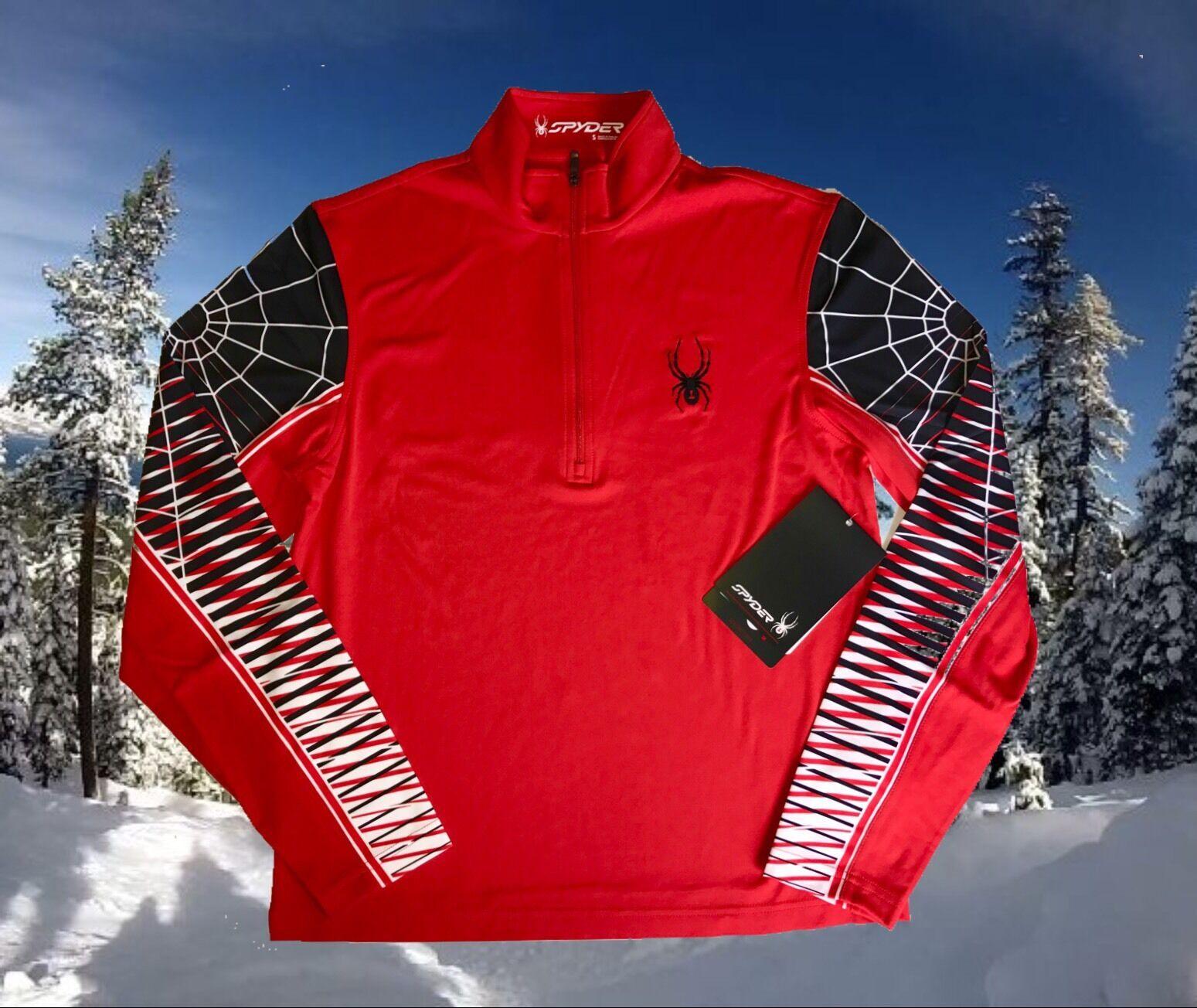 Spyder Mens Medium Webstrong T-Neck Base Layer Ski Shirt Top Nwt  99